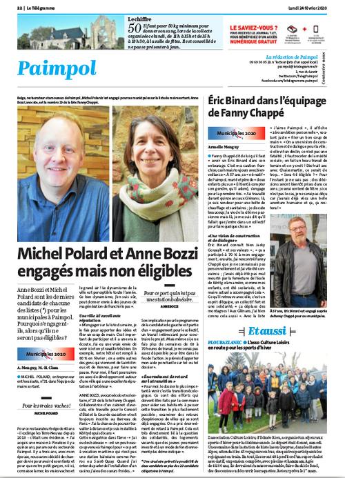 Michel Polard et Anne Bozzi engagés mais non éligibles
