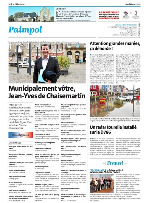 Municipalement vôtre, Jean-Yves de Chaisemartin