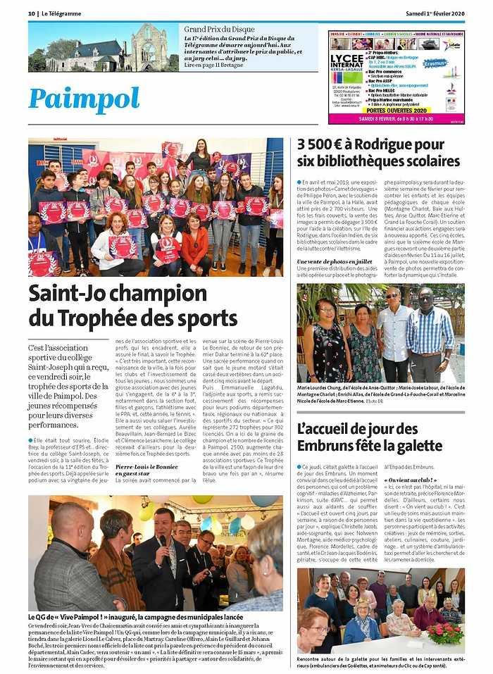 """Le QG de """"Vive Paimpol !"""" inauguré, la campagne des municipales lancée 0"""