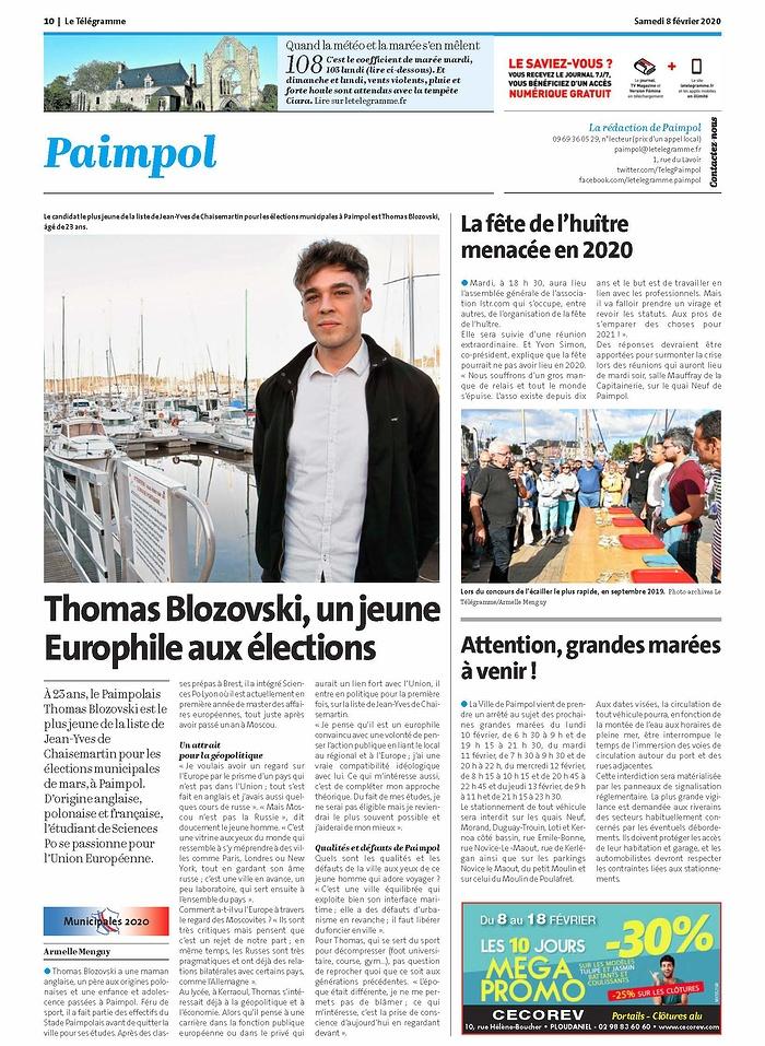 Thomas Blozovski, un jeune Europhile aux élections 0