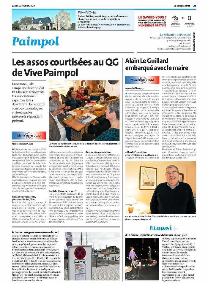 """""""Les assos courtisées au QG de Vive Paimpol"""" 0"""