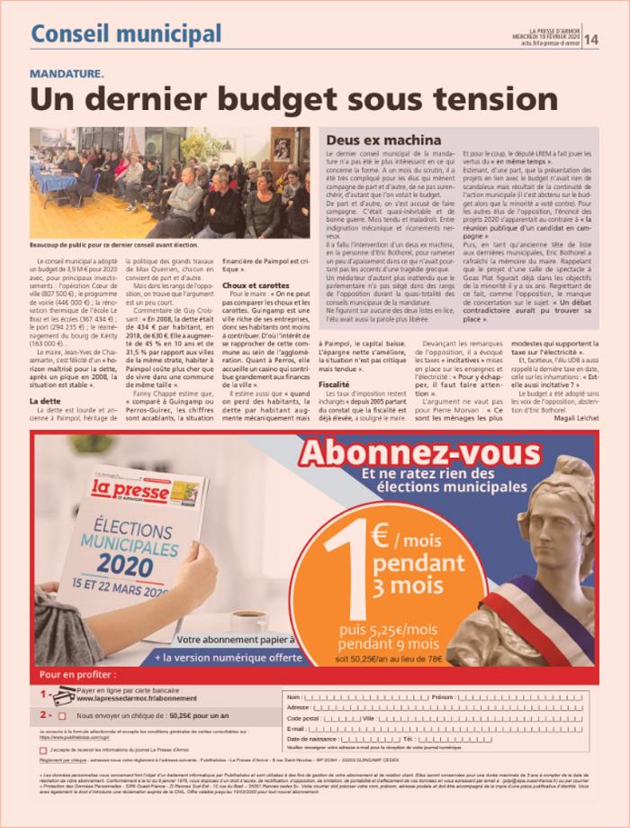 Un dernier budget sous tension 0